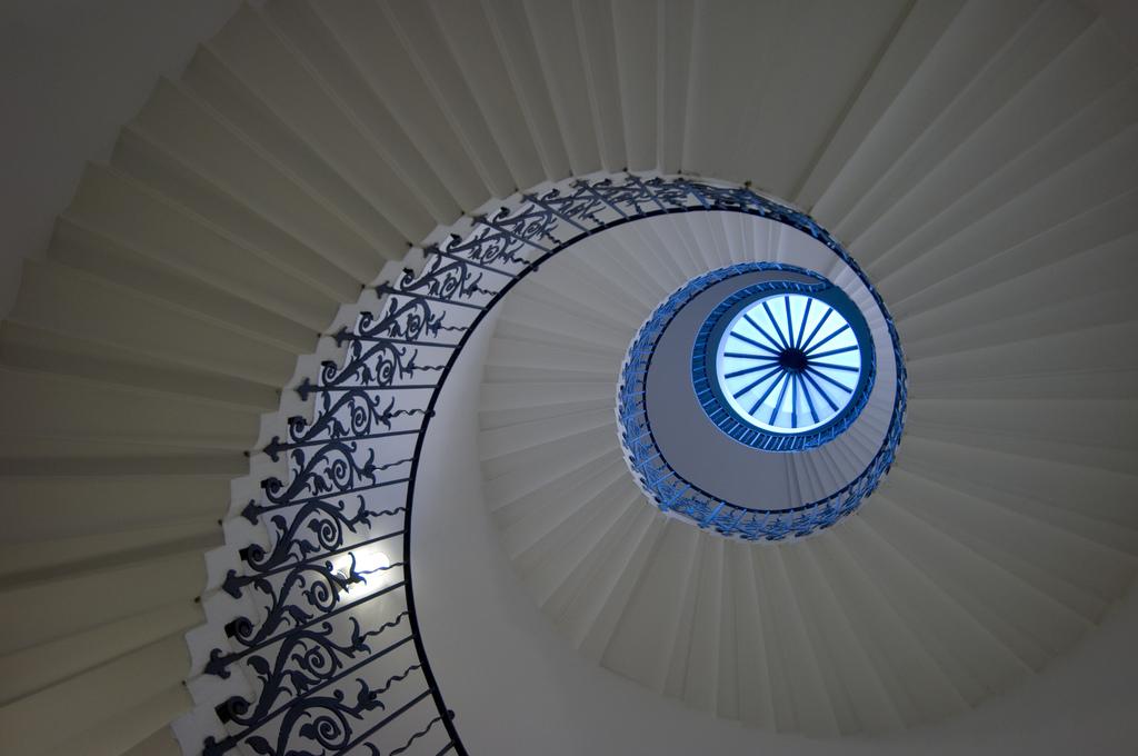 Escalier en colimaçon.