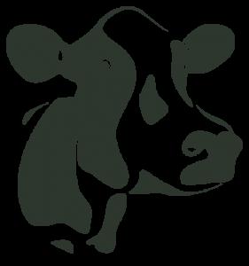 Silhouette de tête de vache.